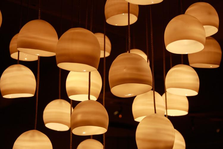 Lyskrone, porcelæn